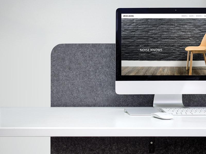 Acoustic Desk Divider Panels in Nordic Knit